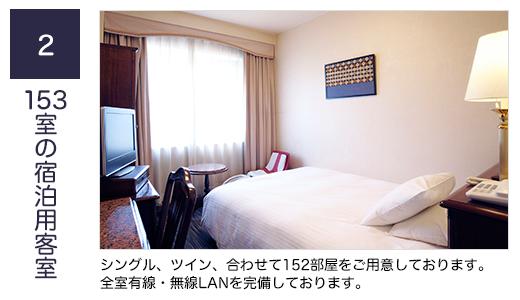 2、153室の宿泊用客室